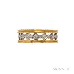 22kt Gold, Platinum, and Diamond Band, Cathy Waterman
