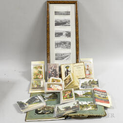 Small Group of Late 19th and Early 20th Century Postcards and Trade Cards.     Estimate $200-300