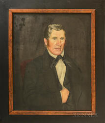 American School, 19th Century      Portraits of James Smalley and Jane Covert