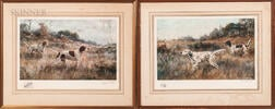 Percival Rosseau (American, 1859-1937)    Two Reproduction Color Lithographs of Hunting Dogs: Setter and Pointer