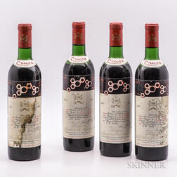 Chateau Mouton Rothschild 1967, 4 bottles