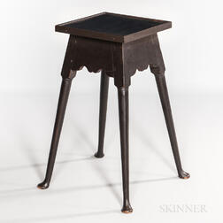 Queen Anne Black-painted Splay-leg Stand