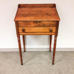 Country Stained Cherry Schoolmaster's Desk
