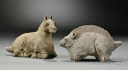 Two Ceramic Animals