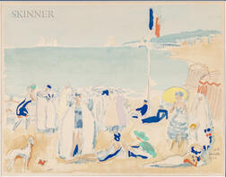 Kees van Dongen (Dutch/French, 1877-1968)      Deauville La Plage