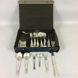 Reed & Barton Partial Sterling Silver Luncheon Flatware Service