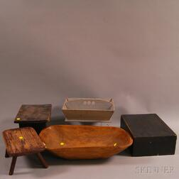 Group of Wooden Items