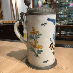 Polychrome Tin-glazed Earthenware Tankard