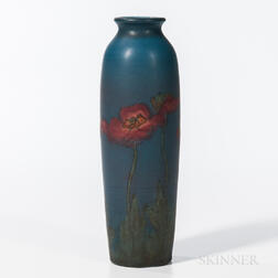 Sally E. Coyne for Rookwood Pottery Matte Glaze Poppy Vase