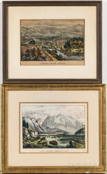 Currier & Ives Through to the Pacific   and The Rocky Mountains   Lithographs