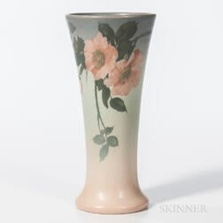 Edward Diers for Rookwood Pottery Vellum Floral Vase