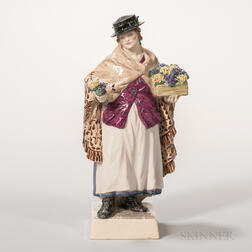 Charles Vyse Pottery Figure The Shawl