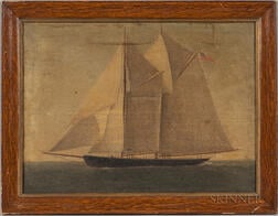 American School, 19th Century       Portrait of a Schooner