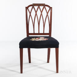Federal Carved Mahogany Side Chair
