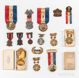 Group of G.A.R. Medals and Badges