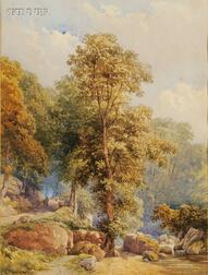 Lewis Pinhorn Wood (British, 19th/20th Century)      Lot of Two Woodland Views of Surrey