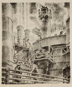 Niels Yde Andersen (Danish/American, 1888-1952)      Lot of Three Images: Steam Pipes and Cat Walks