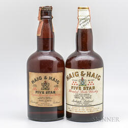 Haig & Haig Five Star, 2 4/5 quart bottles
