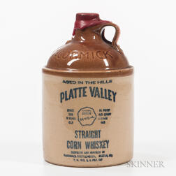 Platte Valley Staright Corn Whiskey   6 Years Old