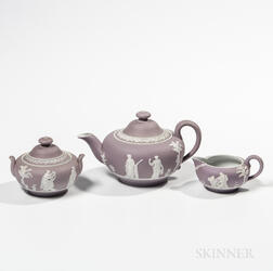 Three-piece Lilac Jasper Dip Tea Set