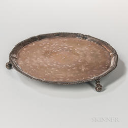 George III Irish Sterling Silver Salver