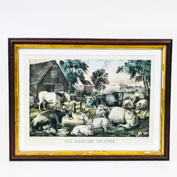 Framed Currier & Ives Lithograph The Farmers Friends