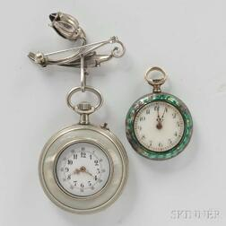 Two Lady's Pendant Watches