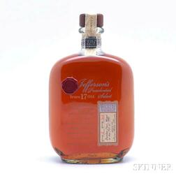 Jeffersons Prersidential Select 17 Years Old 1991, 1 750ml bottle