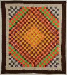"Mennonite ""Trip Around the World"" Quilt"