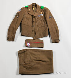 187th Airborne, 88th Airborne Anti-aircraft Battalion Ike Jacket, Trousers, and Cap