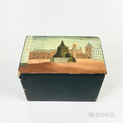 Russian Lacquered Box of the Tsar Bell