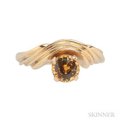 18kt Gold and Yellow Sapphire Ring, R.W. Wise
