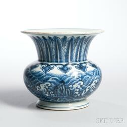 Blue and White Refuse Vessel