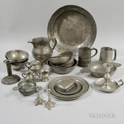 Group of Pewter Tableware Items
