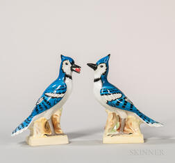 Pair of Wedgwood Bone China Blue Jays