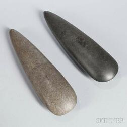 Two Large Polished Stone Celts