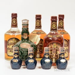 Mixed Chivas, 2 liter bottles 2 quart bottles 4 50ml bottles