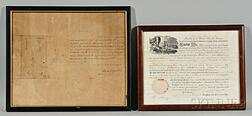 Monroe, James (1758-1831) Signed Land Deed, 11 June 1821.