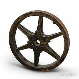 Black-painted Triple Six-spoke Wheel