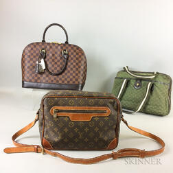 Three Louis Vuitton Handbags