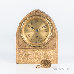 Tiffany Studios Zodiac-pattern Desk Clock