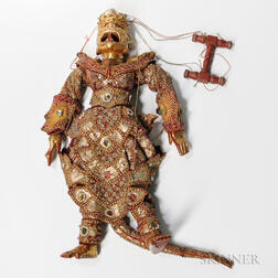 Gilt-bronze Embellished Puppet