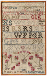 "Needlework Sampler ""Mary Simpson,"""