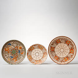 Three Charlotte Rhead Design Earthenware Chargers