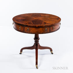 Georgian-style Mahogany and Mahogany-veneered Center Table