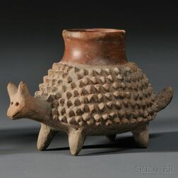 Jalisco Pottery Armadillo Vessel