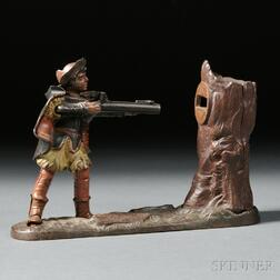 Polychrome Cast Iron New Creedmore William Tell Mechanical Bank