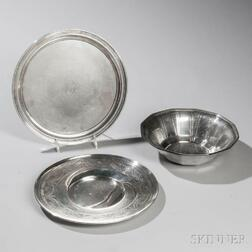 Three Pieces of Tiffany & Co. Sterling Silver Hollowware