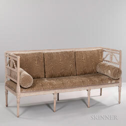 Gustavian-style Neoclassical-style Painted Settee