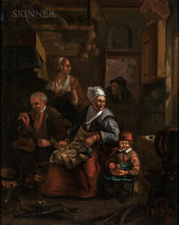 Flemish School, 17th Century      A Caller at the Door